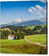 Idyllic Landscape In The Alps, Appenzellerland, Switzerland Canvas Print