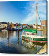 Idyllic North Sea Town Of Husum Canvas Print