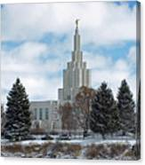 If Temple After Snow Canvas Print