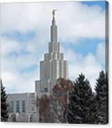 If Temple Dusted In Snow Canvas Print