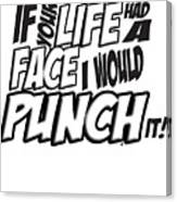 If Your Life Had A Face - Scott Pilgrim Vs The World Canvas Print
