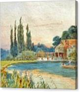 Iffley Mill On The River Thames Canvas Print