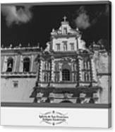 Iglesia San Francisco - Antigua Guatemala Bnw Canvas Print