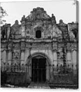 Iglesia San Jose El Viejo - Antigua Guatemala Bnw Canvas Print