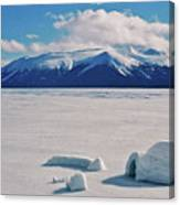 Igloo On Atlin Lake - Bc Canvas Print