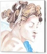Ignudo Sistine Chappel Michelangelo Canvas Print