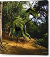 Iguanodon In The Jungle Canvas Print