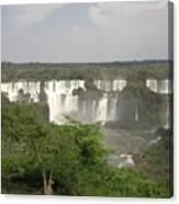 Iguassu Falls From Brazil Canvas Print