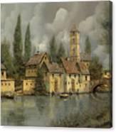 Il Borgo Sul Fiume Canvas Print