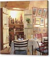 Il Caffe Dell'armadio Canvas Print