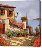 Il Giardino Rosso Canvas Print