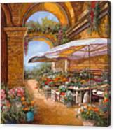 Il Mercato Sotto I Portici Canvas Print