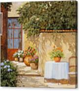Il Muretto E Il Tavolo Canvas Print