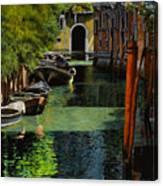 il palo rosso a Venezia Canvas Print