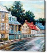 Ile D'orleans Quebec Street Scene Canvas Print