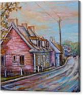 Iles D'orleans Quebec Village Scene Canvas Print