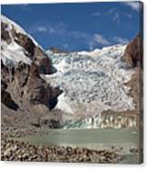 Illampu Glacier Lake Or Laguna Glacial Canvas Print
