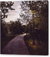 Illuminated Foot Path Canvas Print
