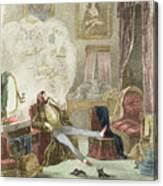 Illustration From Visitation Of A London Exquisite To His Maiden Aunts In The Country Canvas Print