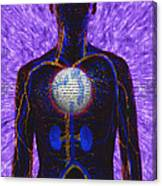 Illustration Of Computer Enhanced Human Canvas Print