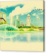 Illustration Of Singapore In Watercolour Canvas Print