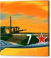 Ilyushin II 2m3 Russian Ground Attack Aircraft Canvas Print