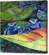 I'm In Love With A Big Blue Frog Canvas Print