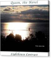 Image Included In Queen The Novel - Lighthouse Contrast Enhanced Poster Canvas Print