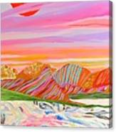 My Imagination Of China's Vast Rainbow Mountains Canvas Print