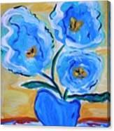 Imagine In Blue Canvas Print