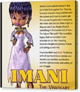 Imani, The Visionary Canvas Print