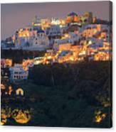Imerovigli After Sunset, Santorini Canvas Print