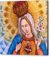 Immaculate Heart Of Virgin Mary Canvas Print