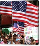 Immigrant Marcher In Orlando Canvas Print