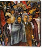 Immigrants, Nyc, 1937-38 Canvas Print