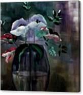 Impatient Painterly Floral Canvas Print
