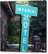 Imperial Hotel Sign In Cripple Creek Canvas Print