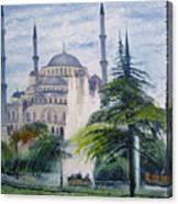 Imperial Sultanahmet Mosque Istanbul Turkey 2006  Canvas Print