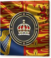 Imperial Tudor Crown Over Royal Standard Of The United Kingdom Canvas Print