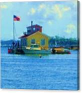 Impossible House Boat  - New York Canvas Print