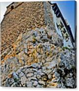 Impregnable Wall. Bran Castle - Dracula's Castle. Canvas Print