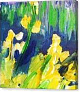 Impression Flowers Canvas Print