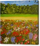 Impressionism Flowers- Pretty Posies Canvas Print