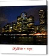 Impressionist Skyline New York City Canvas Print
