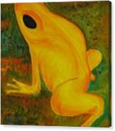 Impressionistic Golden Poison Dart Frog Orig Or Prints Canvas Print