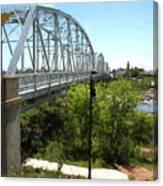 Impressionistic Llano Bridge Canvas Print