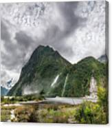 Impressive Weather Conditions At Milford Sound Canvas Print