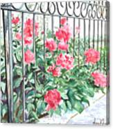 Imprisoned Peonies Canvas Print