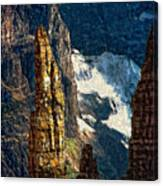 In A High Place Impasto Canvas Print