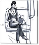 In A Train Canvas Print